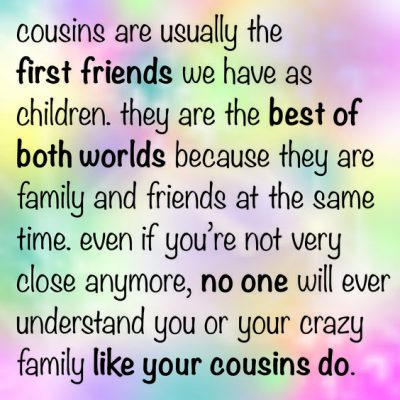 Quotes About Cousins Pics