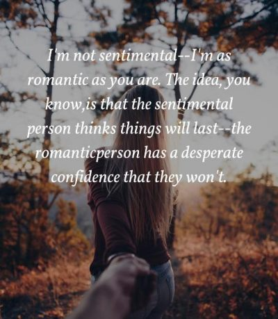 Quotes About Sentimental Person