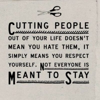 Cutting People Off Quotes