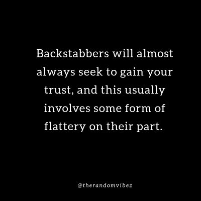 Karma backstabber Quotes