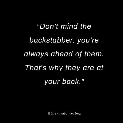 Picture Quotes Backstabbers