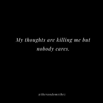 Sad No One Cares Quotes