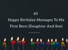 60 Happy Birthday Messages To My First Born