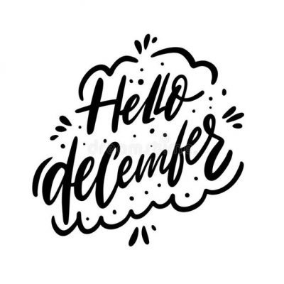 December Hand Lettering Picture