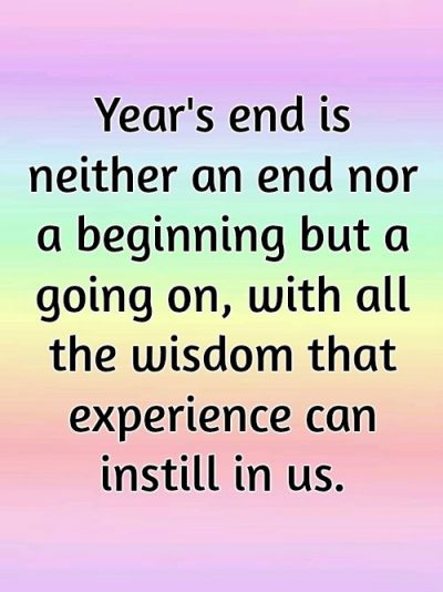 End Of The Year Quotes