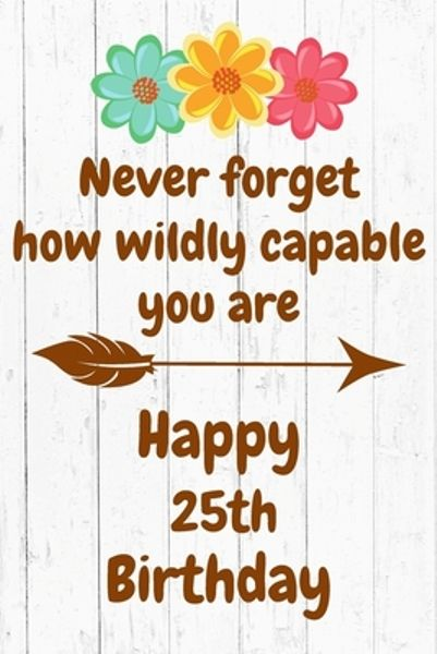 Happy 25th Birthday Wishes Quote