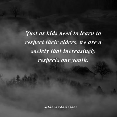 We Must Respect Elders
