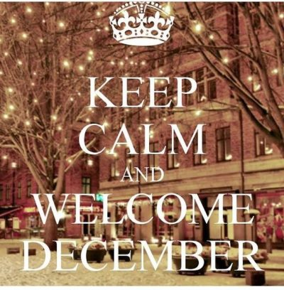Welcome December Month 2020