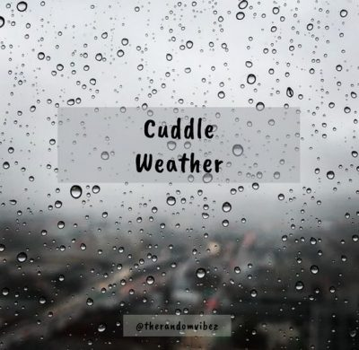 Cuddle Weather Quotes