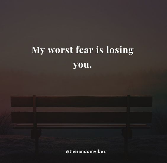 Someone losing scared of Understanding Fear